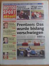 MOTOR SPORT aktuell 22-29.4. 18 - 1997 Frentzen Wayne Rainey Superbike-WM