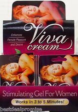 GENUINE VIVA CREAM GEL FEMALE SEXUAL ENHANCEMENT AROUSAL GEL FOR WOMEN (1 CT)