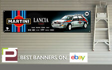 Martini Lancia Integrale Garage Banner XL for Workshop, Garage, Group B Rally