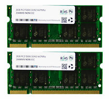 4GB 2x2GB DDR2 800MHz PC2-6300 PC2-6400 DDR2 800 (200 PIN) SODIMM Laptop Memory