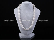 Lovely knotted white southsea shell pearl 12 mm necklace 22 inch