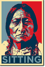 SITTING BULL ART PHOTO PRINT (OBAMA HOPE PARODY) POSTER NATIVE AMERICAN INDIAN