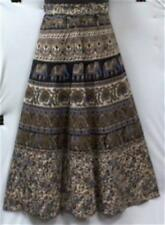 Women Clothing Wrap Skirt 06 Blue Beige Mustard Elephant NotCom M L XL 1X 2X 3X