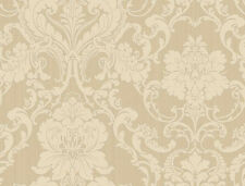 York Wallcoverings Vintage Victorian Damask Cream Tan Taupe Designer Wallpaper