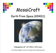 MosaiCraft Pixel Craft Mosaic Art Kit 'Earth From Space' (Inc. Dove Tail Clips)