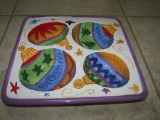 """Colorful Glass Square Serving Dip Plate 13""""  x  13"""""""