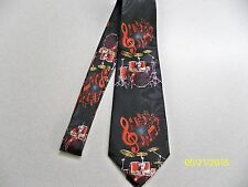 Drum Set, Drums, Symbols, Band, Rock, Musical, notes, theme men's necktie  New!!