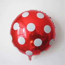 """18"""" Red Round Big Polka Dot Foil Balloons For Wedding Birthday Party Decoration"""