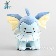 Japanese Anime POKEMON Transform! Ditto Metamon Vaporeon Plush Doll Soft Toy 7''