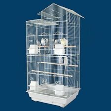 Large Tall Canary Parakeet Cockatiel LoveBird Finch Bird Cage 1702H White-123
