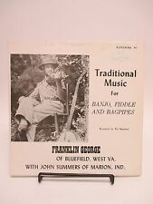 """""""Traditional Music for Banjo, Fiddle, and Bagpipes"""" AUTOGRAPHED Franklin George!"""