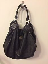Authentic Louis Vuitton XL Black Monogram Mahina Leather Hobo Tote Shoulder Bag