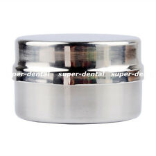 1pc Stainless Steel Cotton Ball Gauze Tampon Jar Holder Dispenser Dental Medical