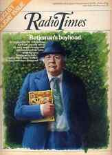 RADIO TIMES 28 AUG 1976 . SIR JOHN BETJEMAN COVER . BANK HOLIDAY ISSUE . MISS UK