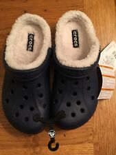 Crocs Taken Lined Clog Navy/ Cream M7W9 Nwt