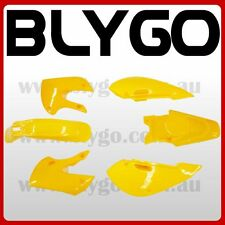 YELLOW Plastics Fairing Fender Kit KLX110 125cc PIT PRO Trail Dirt Big Foot Bike
