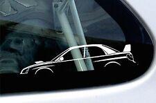 2x car silhouette stickers - for Subaru Impreza WRX STi blob eye ,2nd gen