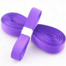 "5yds 3/8"" (10 mm) Purple Solid Christmas Grosgrain Ribbon Hair Bows Ribbion!"