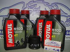 -KIT TAGLIANDO MOTUL 5100 10W40+FILTRO OLIO POLARIS SCRAMBLER 500