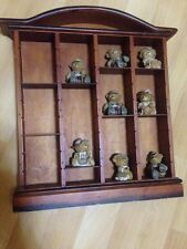 Wooden Display Shelves With 12 Compartments Doll House Miniatures,hangable Bears