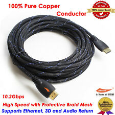 Gold Plated Braided 25FT HDMI Cable V1.4 HD 1080P for LCD DVD HDTV Samsung PS3