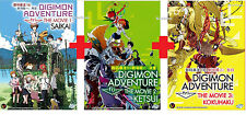 DVD Japan Anime DIGIMON ADVENTURE tri Movie 1 Saikai 2 Ketsui 3 Kokuhaku Eng Sub