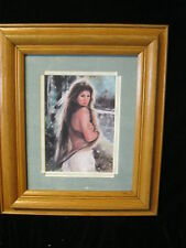 """Indian Native Art American Signed Print - MAIJA  12 """" X  13-1/2"""" Framed & Matted"""