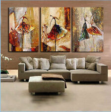 3PC Modern Abstract Art Oil Painting on canvas:women dancing