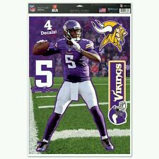 TEDDY BRIDGEWATER MINNESOTA VIKINGS MULTI-USE DECALS 11X17 Just LIKE a Fathead!