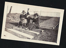 Antique Vintage Photograph Man With Two Women - Cool Outfits and Hats