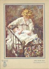 Picture from The Queen's Gift Book. One Year Old. From a painting by M. E. Gray.