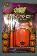 Halloween Pumpkin Carving Kit 6 Stencil Patters 3 Tools JACK-O-LANTERN  9 Piece