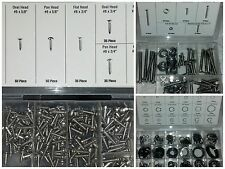 615 PC ASSORTED STAINLESS STEEL SCREWS & SNAP RINGS TRIM MOULDING AUTO RV GARAGE
