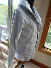 NWT Lululemon To Class Jacket Wee Stripe White Silver Spoon 8