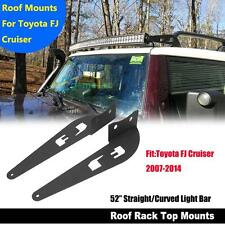 "For 07-14 Toyota FJ Cruiser 52"" Curved LED Light Bar Roof Mounting Brackets"