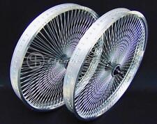 cerchi ruote bici bike wheels 26x55mm coppia fat custom 144 raggi allum. cromo