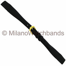 9mm Hirsch Quality Calf Black Genuine Leather Open Ended Ladies Watch Band