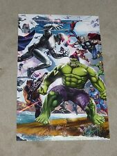 SECRET WARS ART PRINT 2 HAND SIGNED BY GREG HORN  11x17
