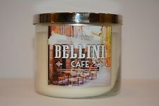 Bath & Body Works Bellini Cafe Scented 3- WICK Candle 14.5oz NEW