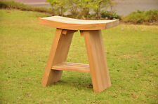A GRADE ASIAN TEAK SHOWER BENCH BATH STOOL SHOWER BENCH PATIO SPA SHELF NEW