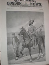 Bengal Cavalry Patrol escort a Boxer prisoner China 1900 old print RC Woodville