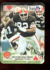 1992 MICHAEL DEAN PERRY Cleveland Browns Rare Playing Card Mint