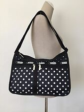 NWT LeSportsac Sun Multi Black Deluxe Everyday Bag Shoulder Messenger 7507 D819