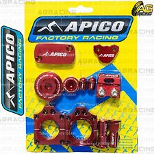 Apico Bling Pack Red Blocks Caps Plugs Clamp Covers For Honda CRF 250X 2005-2015