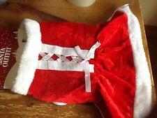Medie dimensioni Babbo Natale Mrs clausola Vestito Giacca Dog