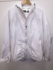 Issey Miyake White Windbreaker Hooded Trench Rain Jacket Size 4 Large