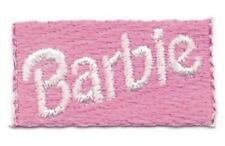 "5/8"" x 1 1/4"" Pink Barbie Square Embroidery Patch"