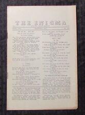 1954 THE ENIGMA Puzzle Fanzine #600 VG 4.0 Crosswords Cryptograms 8pgs
