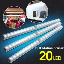 PIR Motion Sensor 20-LED Wireless Tube Cabinet Night Light Drawer Home