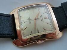 AMAZING SWISS HERODIA 18K PINK SOLID GOLD SUPER AUTOMATIC 30  JEWELS VINTAGE 50s